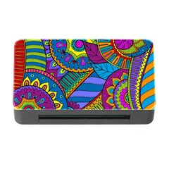 Pop Art Paisley Flowers Ornaments Multicolored Memory Card Reader With Cf by EDDArt