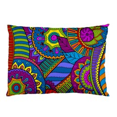 Pop Art Paisley Flowers Ornaments Multicolored Pillow Case (two Sides)