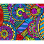 Pop Art Paisley Flowers Ornaments Multicolored Deluxe Canvas 14  x 11  14  x 11  x 1.5  Stretched Canvas