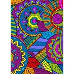 Pop Art Paisley Flowers Ornaments Multicolored Ribbon 3D Greeting Card (7x5) Inside