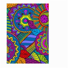Pop Art Paisley Flowers Ornaments Multicolored Large Garden Flag (two Sides) by EDDArt