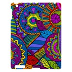 Pop Art Paisley Flowers Ornaments Multicolored Apple iPad 3/4 Hardshell Case