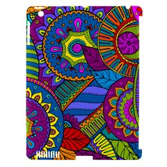 Pop Art Paisley Flowers Ornaments Multicolored Apple Ipad 3/4 Hardshell Case (compatible With Smart Cover)