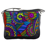 Pop Art Paisley Flowers Ornaments Multicolored Messenger Bags