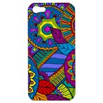 Pop Art Paisley Flowers Ornaments Multicolored Apple iPhone 5 Hardshell Case