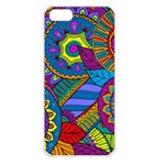 Pop Art Paisley Flowers Ornaments Multicolored Apple iPhone 5 Seamless Case (White)