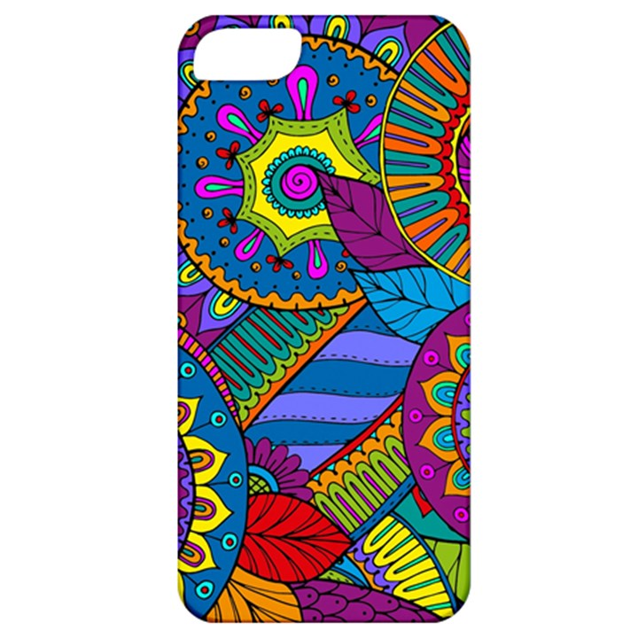 Pop Art Paisley Flowers Ornaments Multicolored Apple iPhone 5 Classic Hardshell Case