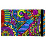Pop Art Paisley Flowers Ornaments Multicolored Apple iPad 2 Flip Case