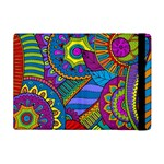 Pop Art Paisley Flowers Ornaments Multicolored Apple iPad Mini Flip Case
