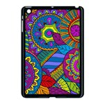 Pop Art Paisley Flowers Ornaments Multicolored Apple iPad Mini Case (Black)