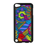 Pop Art Paisley Flowers Ornaments Multicolored Apple iPod Touch 5 Case (Black)