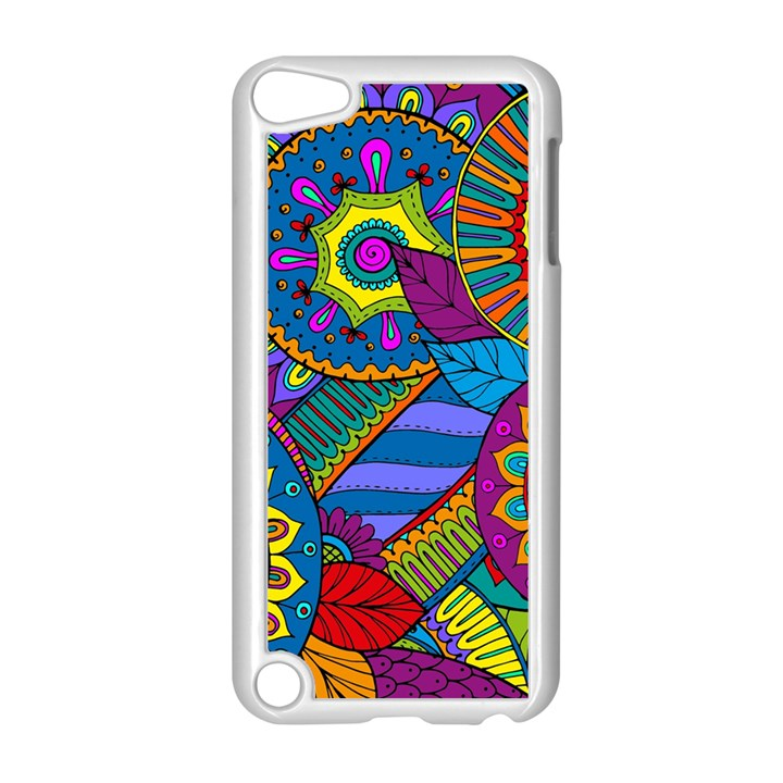 Pop Art Paisley Flowers Ornaments Multicolored Apple iPod Touch 5 Case (White)