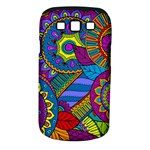 Pop Art Paisley Flowers Ornaments Multicolored Samsung Galaxy S III Classic Hardshell Case (PC+Silicone)
