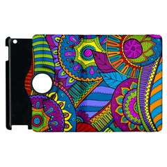 Pop Art Paisley Flowers Ornaments Multicolored Apple Ipad 3/4 Flip 360 Case