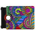 Pop Art Paisley Flowers Ornaments Multicolored Kindle Fire HD Flip 360 Case