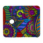 Pop Art Paisley Flowers Ornaments Multicolored Samsung Galaxy S  III Flip 360 Case