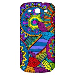 Pop Art Paisley Flowers Ornaments Multicolored Samsung Galaxy S3 S Iii Classic Hardshell Back Case by EDDArt