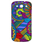 Pop Art Paisley Flowers Ornaments Multicolored Samsung Galaxy S3 S III Classic Hardshell Back Case