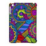 Pop Art Paisley Flowers Ornaments Multicolored Apple iPad Mini Hardshell Case (Compatible with Smart Cover)