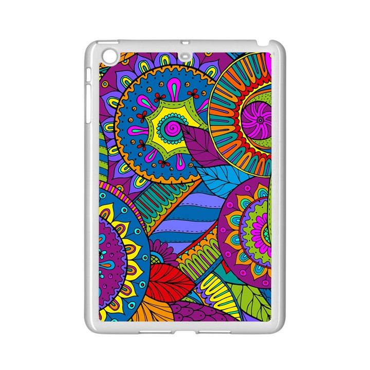 Pop Art Paisley Flowers Ornaments Multicolored iPad Mini 2 Enamel Coated Cases
