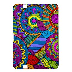 Pop Art Paisley Flowers Ornaments Multicolored Kindle Fire Hd 8 9  by EDDArt