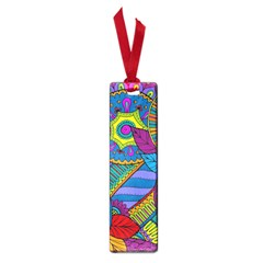 Pop Art Paisley Flowers Ornaments Multicolored Small Book Marks