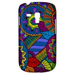 Pop Art Paisley Flowers Ornaments Multicolored Samsung Galaxy S3 MINI I8190 Hardshell Case