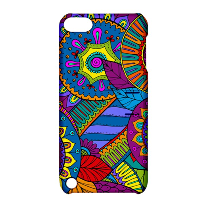 Pop Art Paisley Flowers Ornaments Multicolored Apple iPod Touch 5 Hardshell Case with Stand