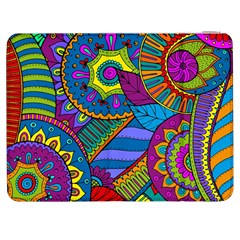 Pop Art Paisley Flowers Ornaments Multicolored Samsung Galaxy Tab 7  P1000 Flip Case by EDDArt