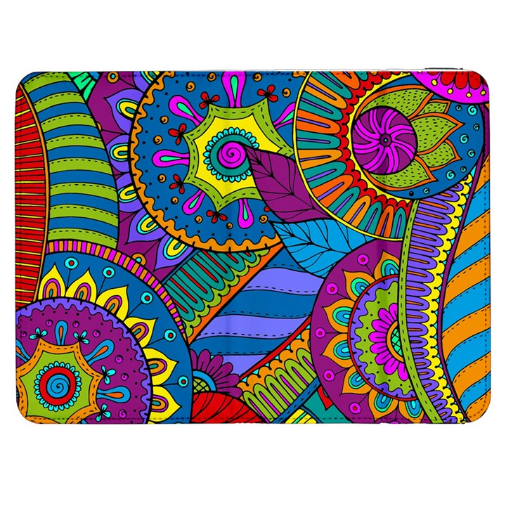 Pop Art Paisley Flowers Ornaments Multicolored Samsung Galaxy Tab 7  P1000 Flip Case
