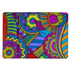 Pop Art Paisley Flowers Ornaments Multicolored Samsung Galaxy Tab 10 1  P7500 Flip Case