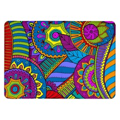 Pop Art Paisley Flowers Ornaments Multicolored Samsung Galaxy Tab 8.9  P7300 Flip Case