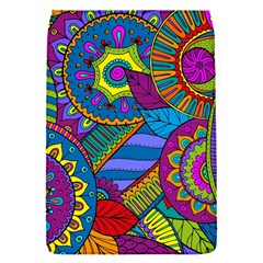 Pop Art Paisley Flowers Ornaments Multicolored Flap Covers (S)