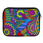 Pop Art Paisley Flowers Ornaments Multicolored Apple iPad 2/3/4 Zipper Cases