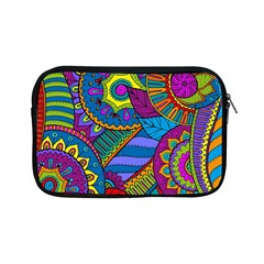 Pop Art Paisley Flowers Ornaments Multicolored Apple Ipad Mini Zipper Cases by EDDArt