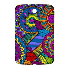 Pop Art Paisley Flowers Ornaments Multicolored Samsung Galaxy Note 8 0 N5100 Hardshell Case  by EDDArt