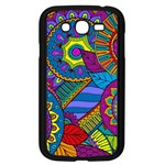 Pop Art Paisley Flowers Ornaments Multicolored Samsung Galaxy Grand DUOS I9082 Case (Black)
