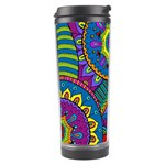 Pop Art Paisley Flowers Ornaments Multicolored Travel Tumbler