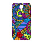 Pop Art Paisley Flowers Ornaments Multicolored Samsung Galaxy S4 I9500/I9505  Hardshell Back Case