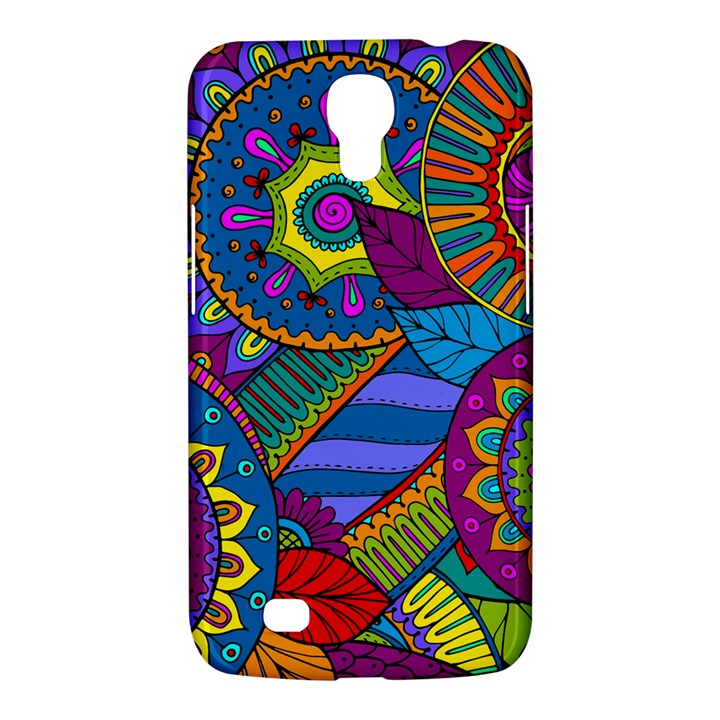 Pop Art Paisley Flowers Ornaments Multicolored Samsung Galaxy Mega 6.3  I9200 Hardshell Case