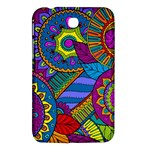 Pop Art Paisley Flowers Ornaments Multicolored Samsung Galaxy Tab 3 (7 ) P3200 Hardshell Case