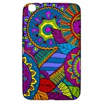 Pop Art Paisley Flowers Ornaments Multicolored Samsung Galaxy Tab 3 (8 ) T3100 Hardshell Case