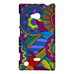Pop Art Paisley Flowers Ornaments Multicolored Nokia Lumia 720 by EDDArt