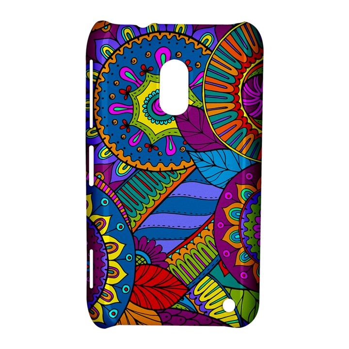 Pop Art Paisley Flowers Ornaments Multicolored Nokia Lumia 620