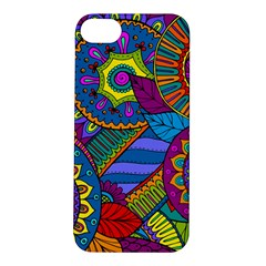 Pop Art Paisley Flowers Ornaments Multicolored Apple Iphone 5s/ Se Hardshell Case