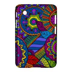 Pop Art Paisley Flowers Ornaments Multicolored Samsung Galaxy Tab 2 (7 ) P3100 Hardshell Case