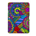 Pop Art Paisley Flowers Ornaments Multicolored Samsung Galaxy Tab 2 (10.1 ) P5100 Hardshell Case
