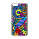 Pop Art Paisley Flowers Ornaments Multicolored Apple iPhone 5C Seamless Case (White)