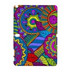 Pop Art Paisley Flowers Ornaments Multicolored Samsung Galaxy Note 10 1 (p600) Hardshell Case
