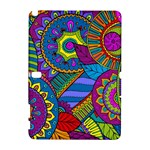 Pop Art Paisley Flowers Ornaments Multicolored Samsung Galaxy Note 10.1 (P600) Hardshell Case